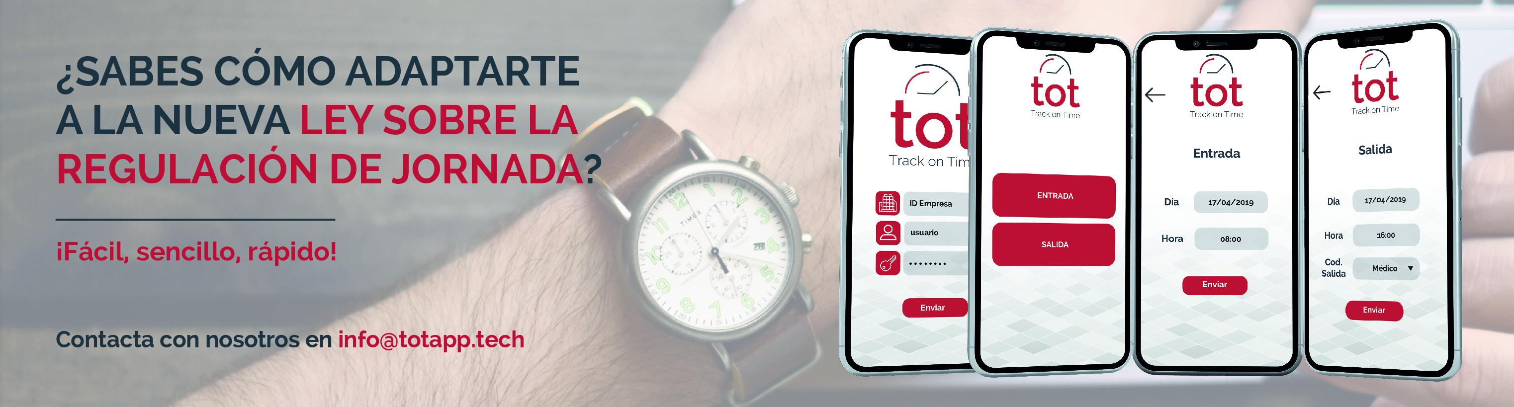 tot cistec app - Guía para adaptarse a la nueva Ley sobre registro de jornada laboral